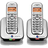 BT Studio Plus 4100 Twin DECT Cordless Telephone - Silver/Dark Grey