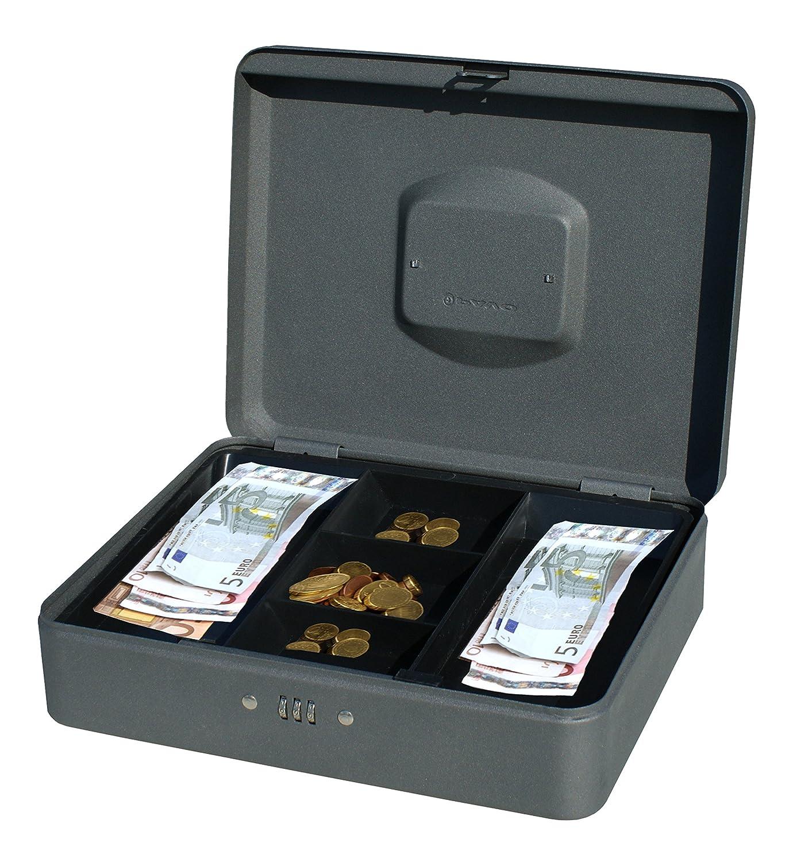 PAVO 8014408 - Cassetta portavalori con lucchetto a combinazione, 30,48 cm, colore: grigio scuro