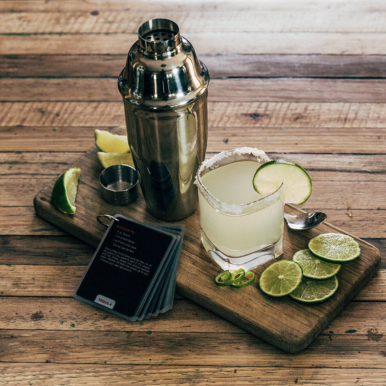 Juego de coctelera | 24 oz Kit de barra de acero inoxidable | gran estilo, bajo las cejas DIY cócteles: Amazon.es: Hogar