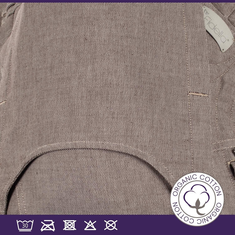 Fidella FlowClick Porte-b/éb/é en forme de buckle I Porte-ventre et de dos avec ceinture abdominale I porte-b/éb/é ergonomique I pour nouveau-n/é et b/éb/és jusqu/à 15 kg I 100/% coton bio