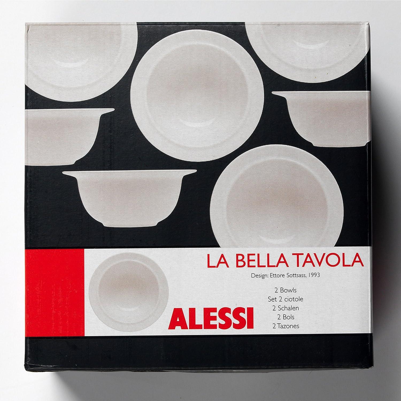 Plato hondo de porcelana La Bella Tavola, de Alessi (1110302), 2 unidades de 23 cm, para sopas y ensaladas, porcelana, crema, 2 unidades: Amazon.es: Hogar