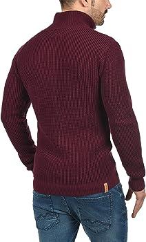 Redefined Rebel Mongo Cárdigan Chaqueta De Punto Grueso para Hombre con Cuello Alto De 100% algodón