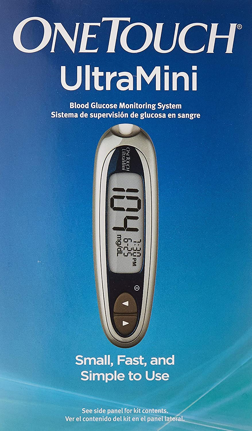 Amazon.com: OneTouch Ultra Mini Blood Glucose Monitoring System, Silver  Moon: Health & Personal Care