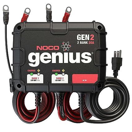 amazon com noco genius gen2 20 amp 2 bank waterproof smart on board rh amazon com House Wiring Diagrams Wiring Diagram Symbols