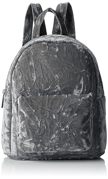a968ddf762 New Look Womens Velvet Mini Backpack Handbag Grey (Mid Grey)