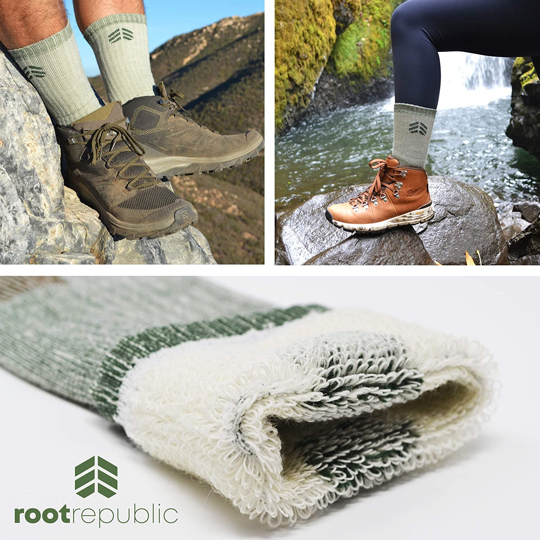 Root Republic 81/% Merino Wool Hiking Socks Outdoor Mountain Boot Socks Men Women