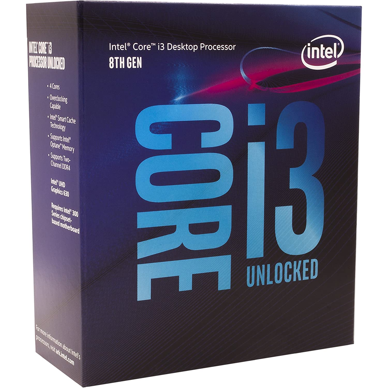 Intel Core i3-8350K Desktop Processor 4 Cores up to 4.0 GHz unlocked LGA 1151 300 Series 91W
