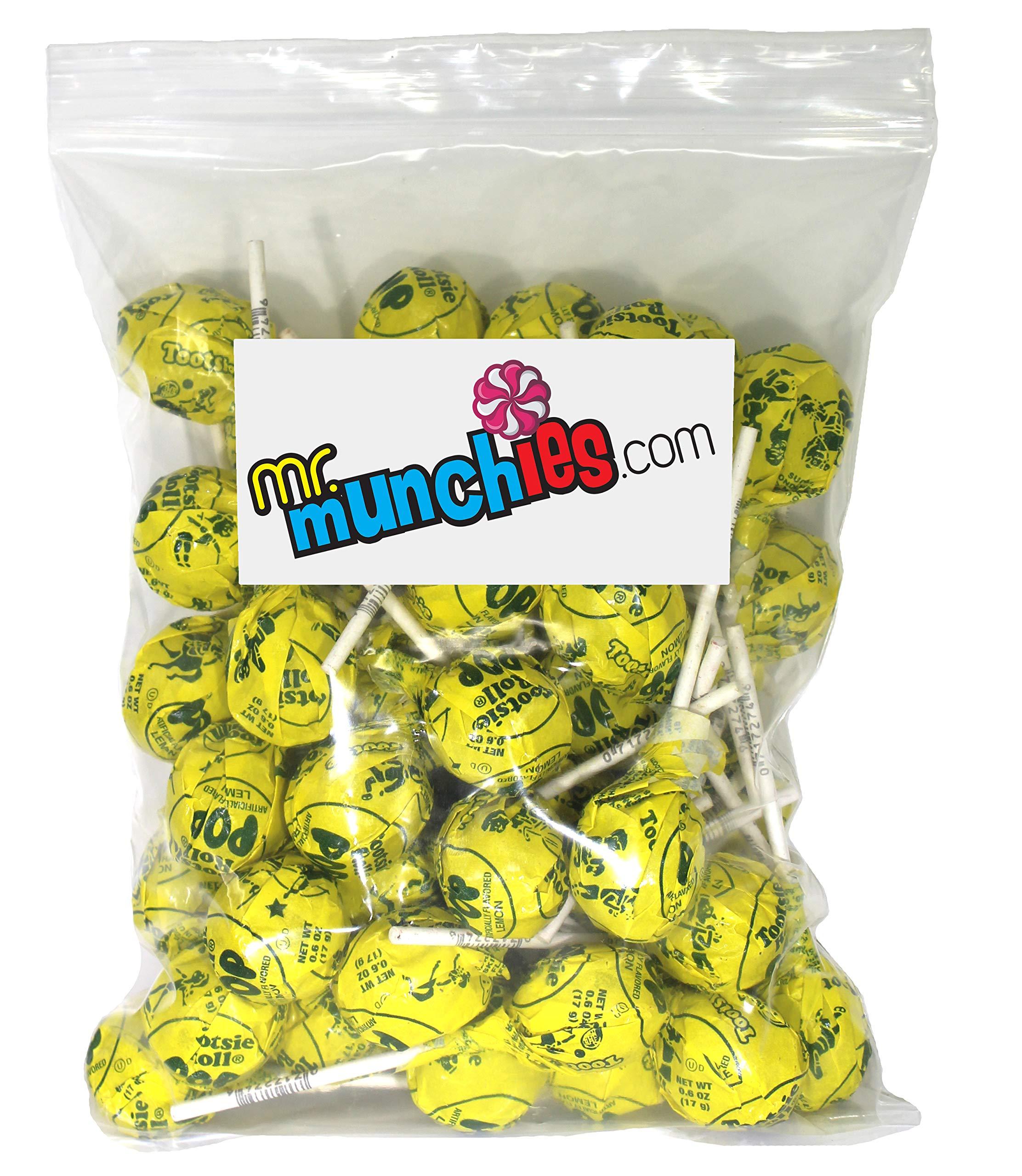 Tootsie Pops, Lemon Flavor, 100 Pieces by Mr. Munchies