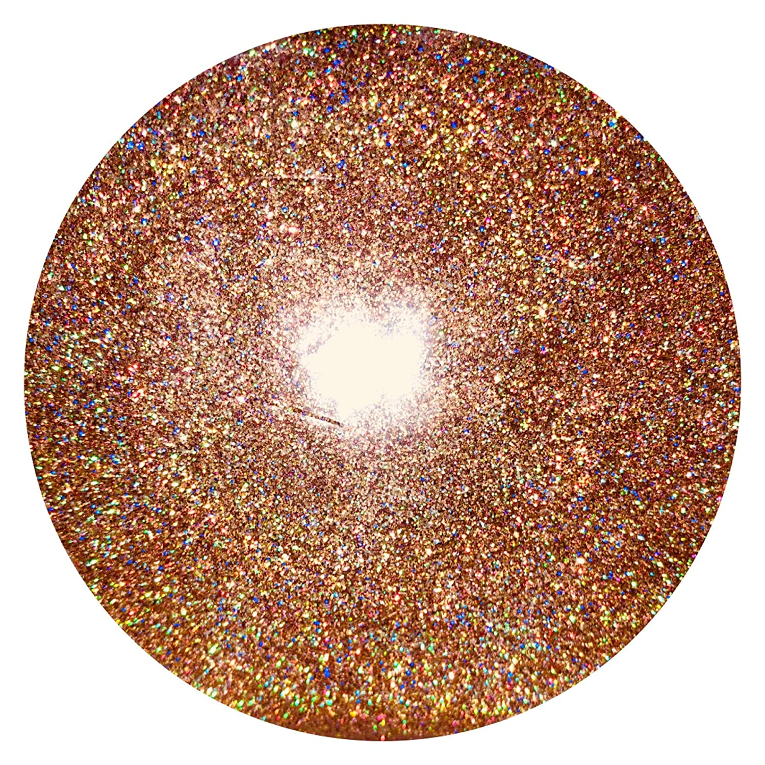 Just Crystals Boutique ROSE GOLD HOLOGRAPHIC GLITTER ULTRA FINE WINE GLASS ART AND CRAFT NAIL ART SCRAP BOOKING NON TOXIC 100g bag