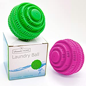 Eco-Friendly Washer Laundry Balls, up to 2000 Washings, All Natural For Very Clean Laundry While avoiding the use of unhealthy substances Set of 2