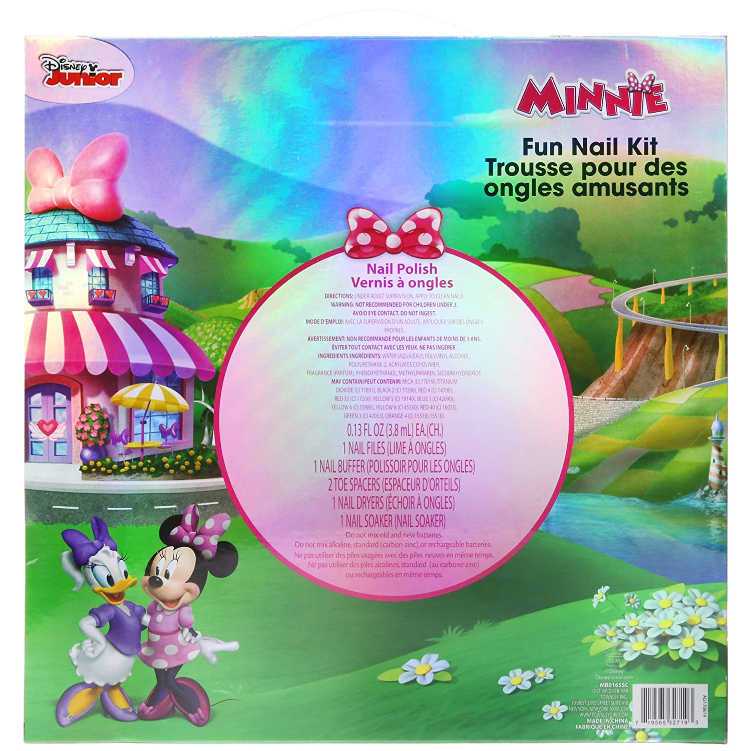 Amazon.com : TownleyGirl Disney Minnie Mouse Super Fun Nail Set with ...