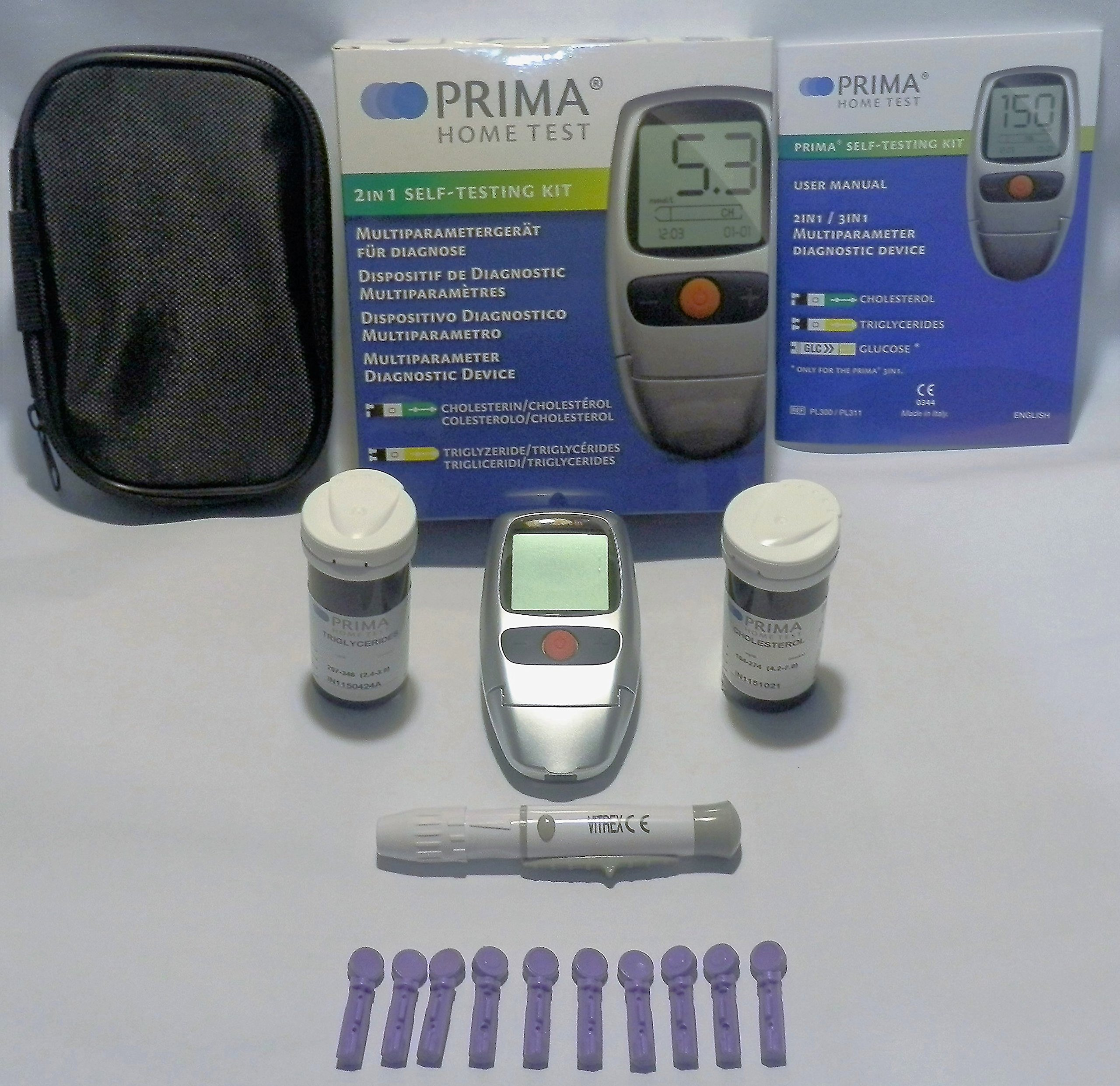 PRIMA Cholesterol and Triglycerides Monitor. FDA/CE Approved.!!! by Prima