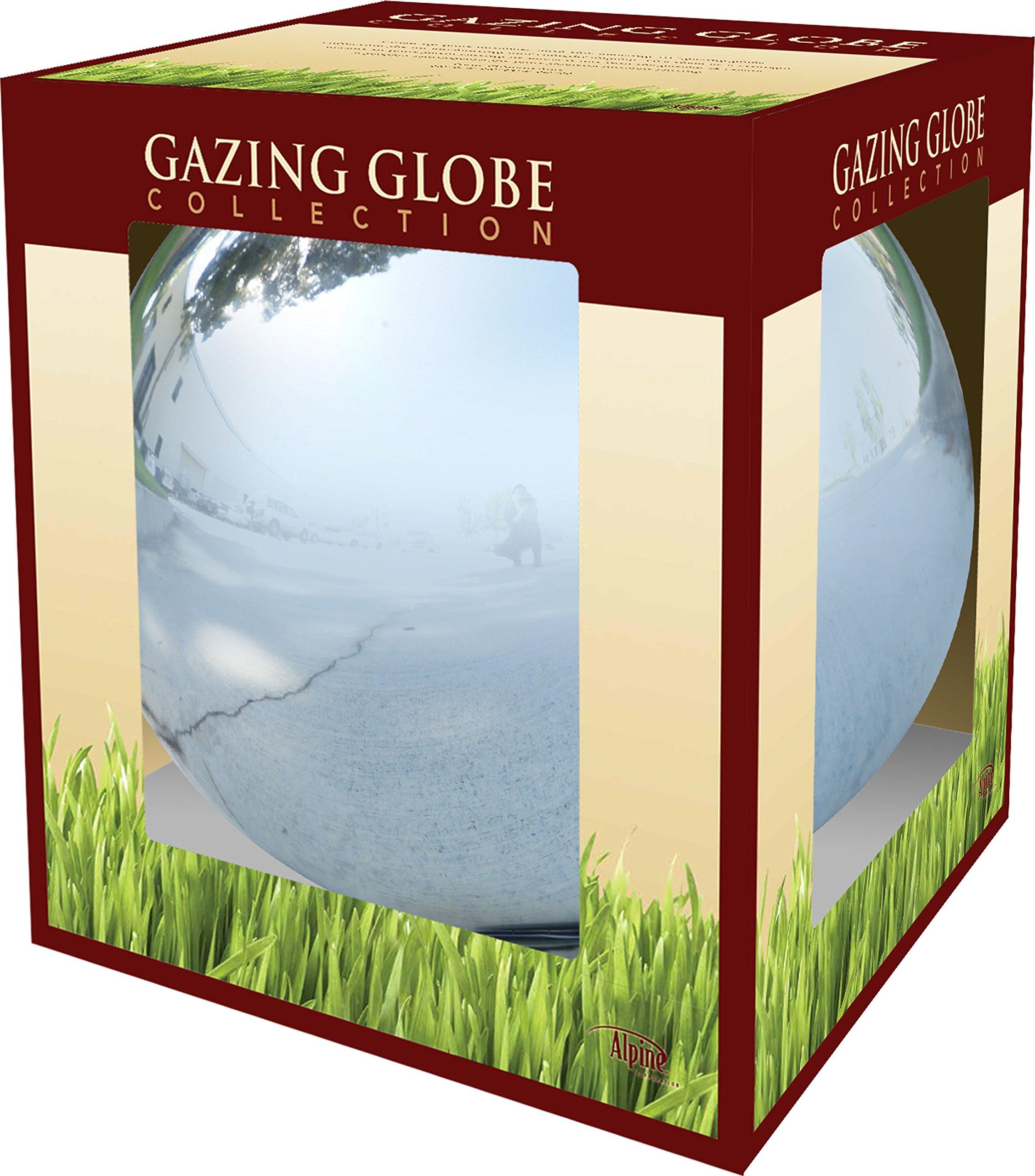 Alpine GLB292SL Glass Gazing Globe, Silver