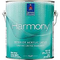 Sherwin Williams Harmony Acrylic Interior Latex Paint Flat Sheen, Extra White