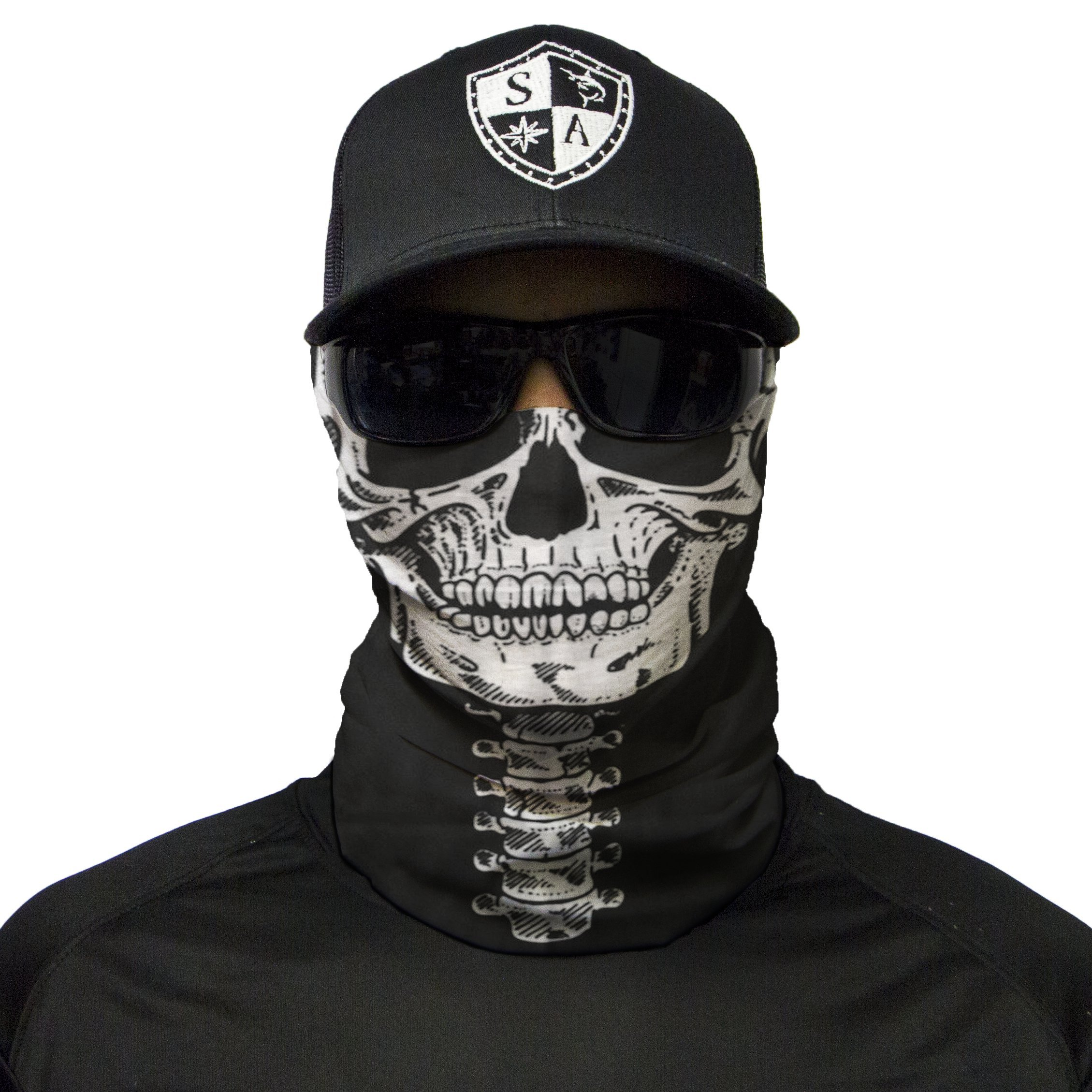 S A 1 Face Shield Skeleton Face Shield, Face Shield for Men and Face Shield for Women – UV Face Shield by S A (Image #1)