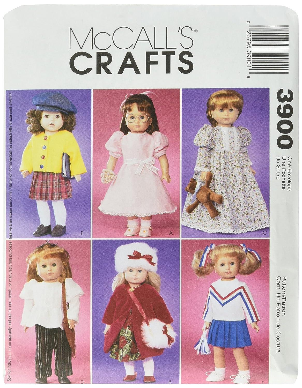 McCall's, Cartamodello per abiti bambola fino a 45 cm McCall' s M3900OSZ