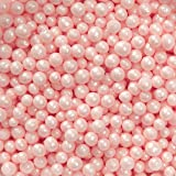 Wilton Pink Sugar Pearls, 5 oz.