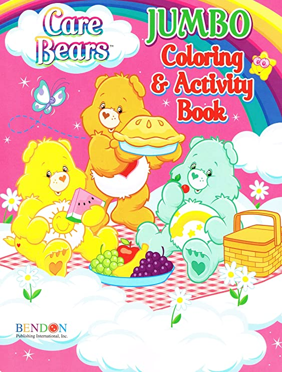 Lot Of 4 Care Bears Jumbo Coloring Activity Books Drawing Sketch Pads