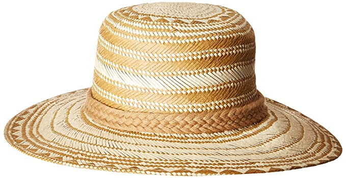 cddad3c0 San Diego Hat Company Women's Triple Poms Woven Paper Bucket Hat, Natural,  One Size at Amazon Women's Clothing store: