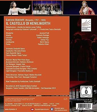 DonizettiI: Il Castello di Kenilworth [Blu-ray]: Amazon.es: Pratt, Remigio, Anduaga. Coro y Orchestra Donizetti Opera, Riccardo Frizza. Escena: María Pilar Pérez Aspa, Pratt, Remigio, Anduaga. Coro y Orchestra Donizetti Opera: Cine y