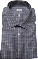 Arrow Men's Athletic-Fit Plaid Striped Long Sleeve Dress Shirt, Salmon