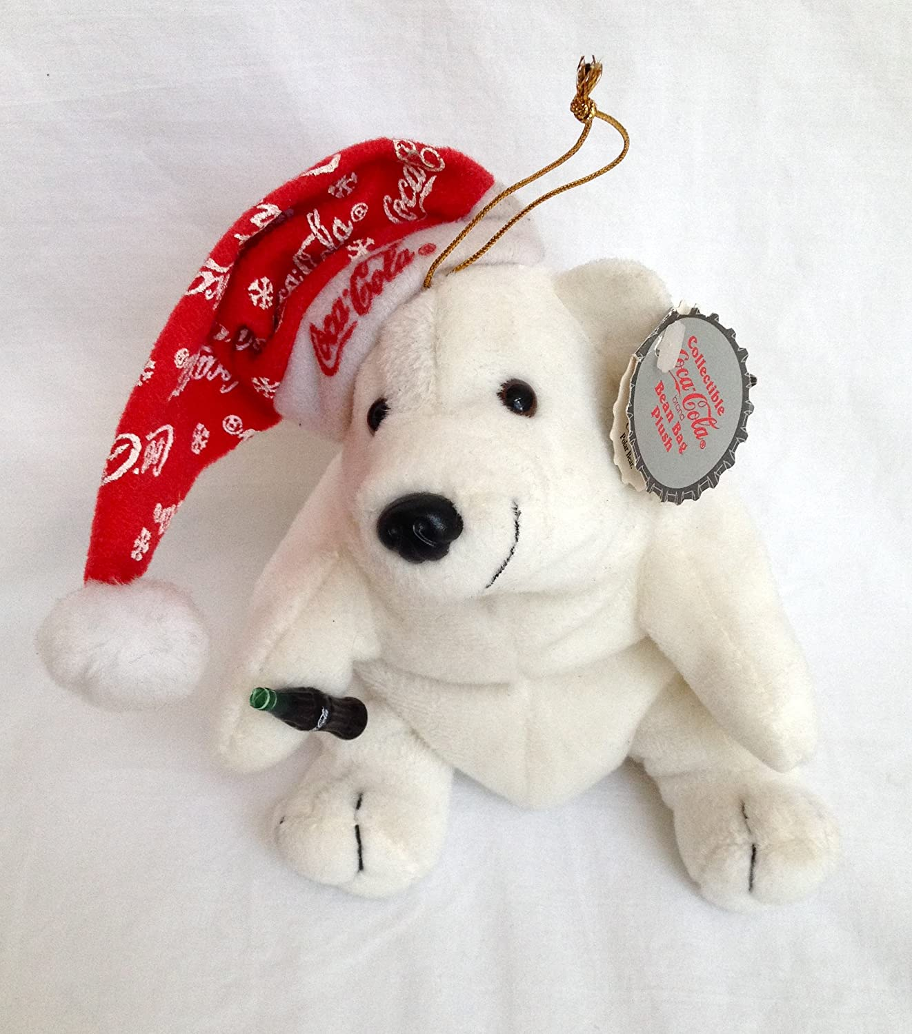 Amazon.com  Coca Cola Polar Bear in Snowflake Hat  Toys   Games df811e8ccfb6