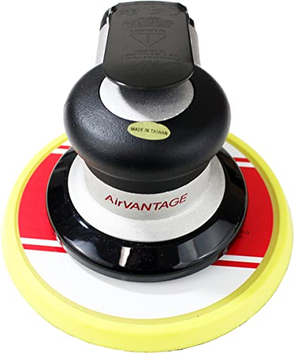 AirVANTAGE Industrial Grade Random Orbital Air Sander Non-Vacuum With Low-Profile Pad, 1 4 in. NPT Air Inlet 6 3 32- Hook Loop