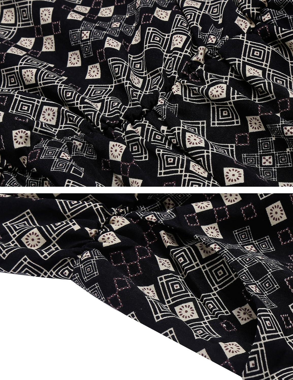 ACEVOG Womens Crewneck Elastic Waist Cut Out Back Pocket Romper Jumpsuit Playsuit