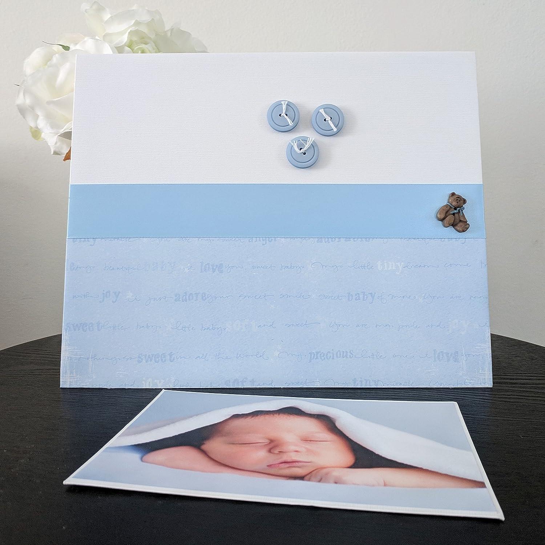 New Baby Boy Photo Frame Embellished Its A Boy Precious Freestanding 3 Photos