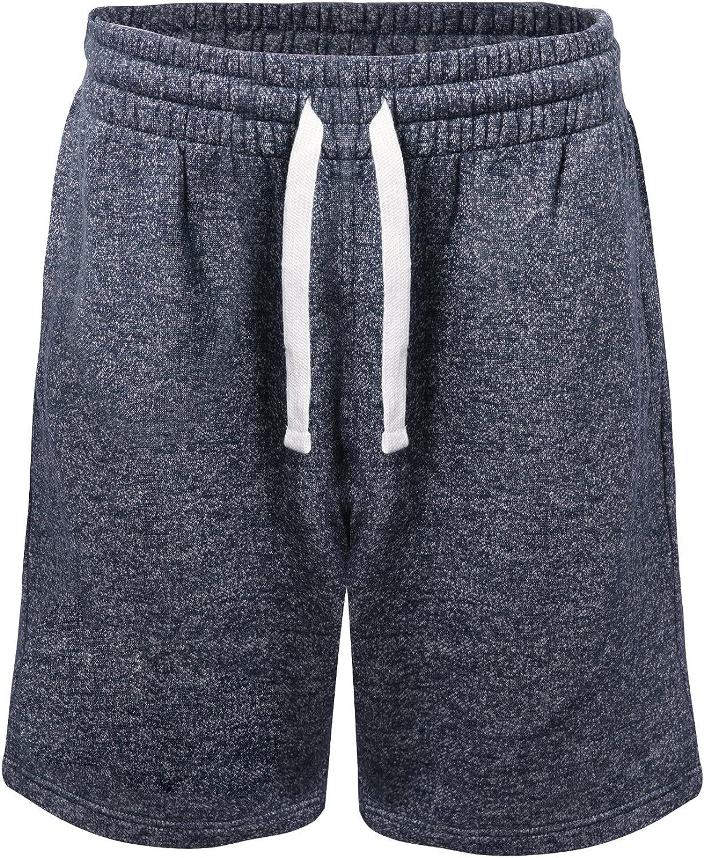 PROGO USA Men's Classic Fit Casual Fleece Jogger Gym Workout Short Pants with Elastic Waist