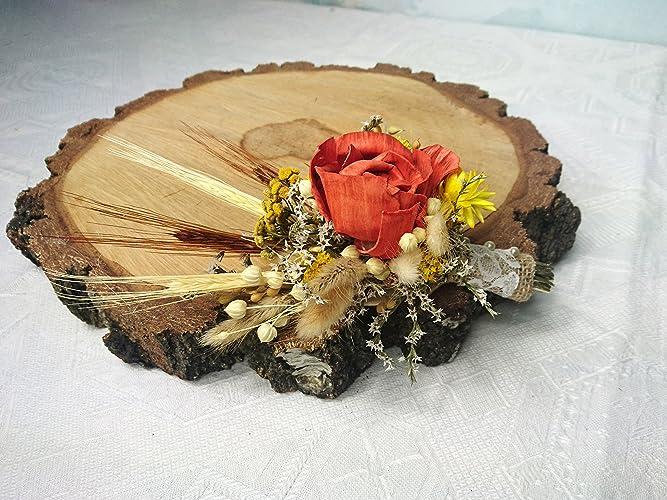 Amazon.com: Burnt Orange Rustic Harvest Wedding Boutonniere Sola ...