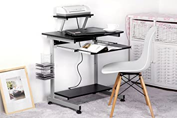 Merax funda para mesa de ordenador con tirador teclado negro ...