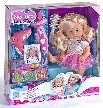 Famosa 700012385 – Kit de peluquería Nenuco con secador, Cepillo de Pelo y Accesorios,