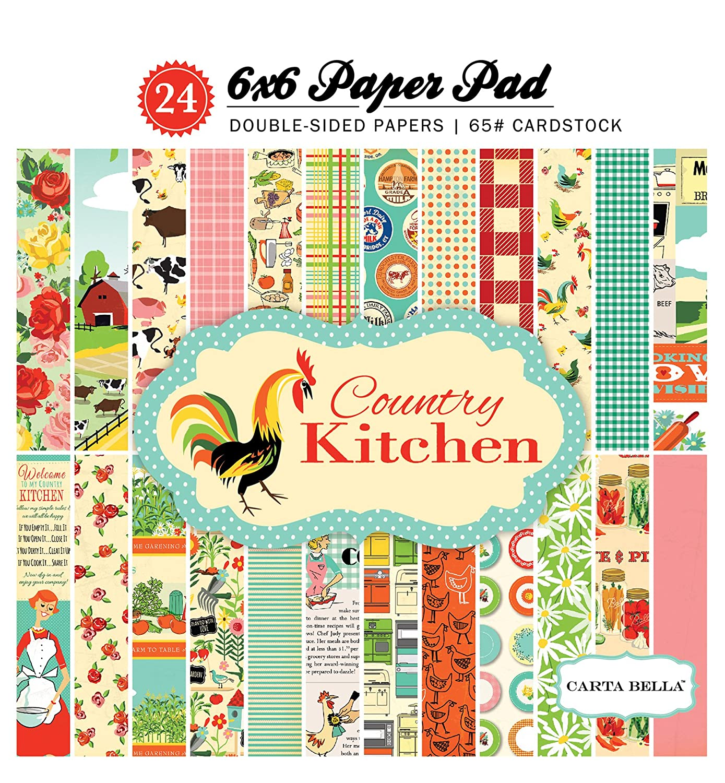 Carta Bella Paper Company Country Kitchen 6x6 Paper Pad Echo Park Paper Company CBCK76015