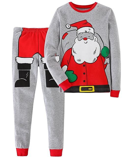 Jobakids Boys  2 Piece Santa Snug Fit Christmas Cotton Pajamas Set by (2T  6ca7720f1