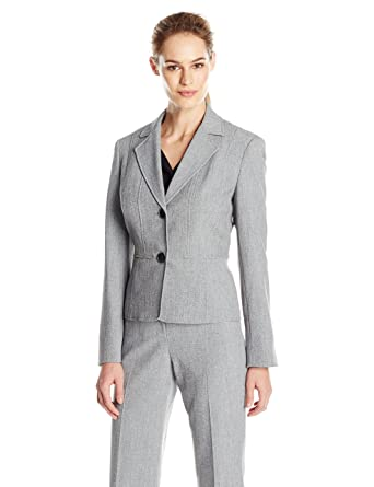 62ee77c6a4a Amazon.com  Kasper Women s 2 Button Jacket  Clothing