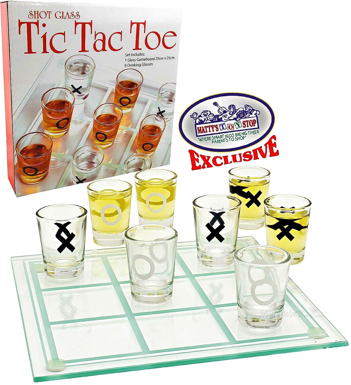 Mattys Toy Stop Tic-TAC-Toe, Juego de Vasos de chupito de Tres en ...