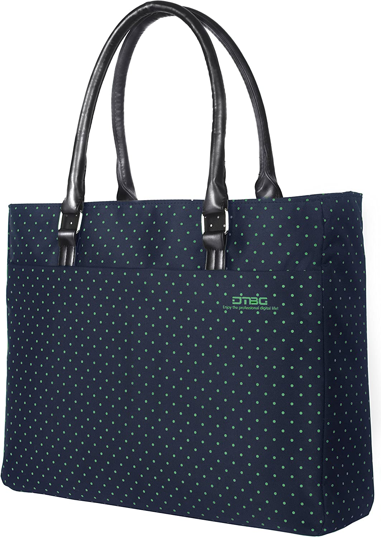 Laptop Tote Bag DTBG 15.6 Inch Women Shoulder Bag Canvas Briefcase Casual Handbag Laptop Case 15-15.6 Inch Tablet/Ultra-Book/MacBook/Chromebook(Green)
