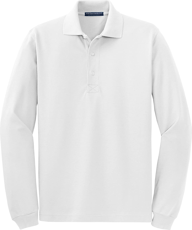 Port Authority Mens Breathable Long Sleeve Polo Shirt