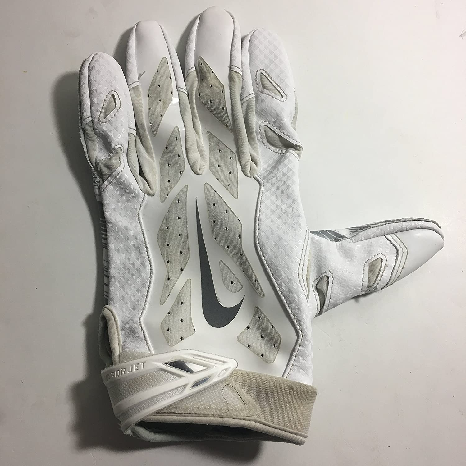 2016 Season LEFT HAND ONLY Brice Butler #19 Game Used Nike Vapor Jet Football Glove Dallas Cowboys XL Oakland Raiders