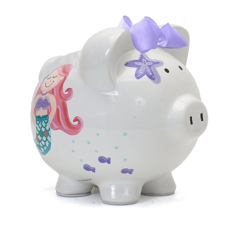 Child To Cherish Ceramic Piggy Bank For Girls Mermaid Baby