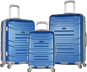 Olympia Denmark 3 Piece Luggage Set, Navy