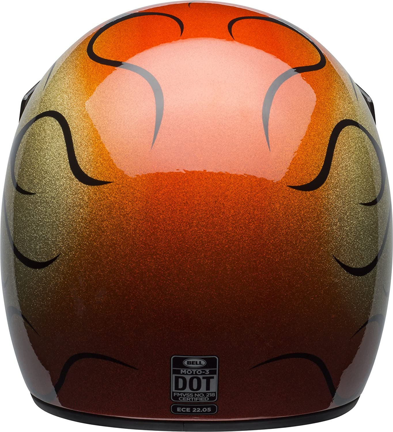 Amazon.com: Bell Moto 3 Off-Road Motorcycle Helmet (Chemical Candy Flames Gloss Orange/Black, Small): Automotive