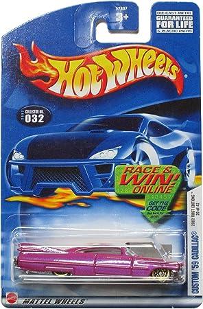 Hot Wheels 2002 First Edition Custom 59 Cadillac 20/42 #032 #32 Magenta 1:64 Scale by: Amazon.es: Juguetes y juegos