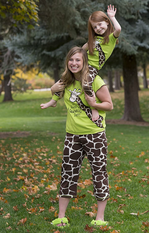 LazyOne Damen Giraffe Looong Day Capri Pyjama-Hosen