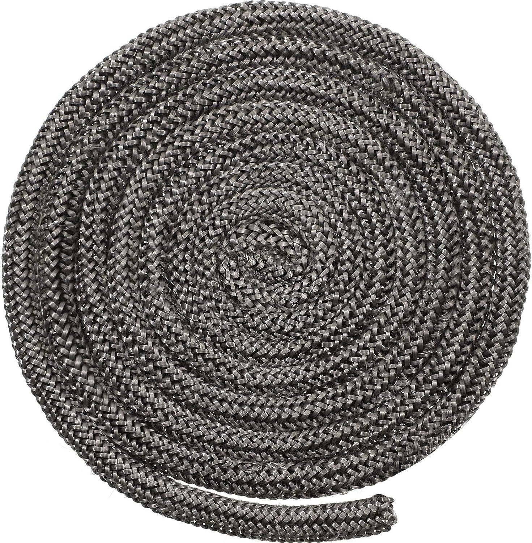 Junta de Puerta de Estufa de Leña Cordón de Fibra de Vidrio de Chimenea Cuerda de Estufa de Leña Junta de Repuesto de Sello para Cocina a Leña (1/2 x 84 Pulgadas)