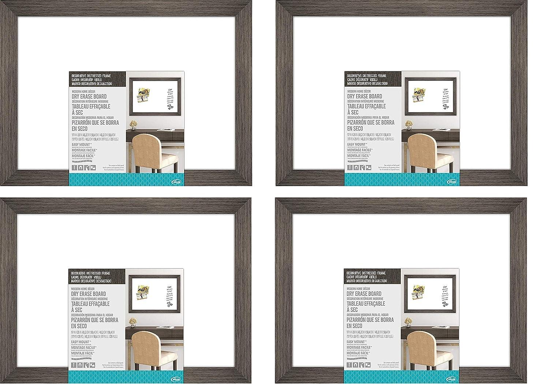 The Board Dudes ホワイトボード 17フィート×23フィート 装飾的なアンティーク調の木製フレーム付き Pack of 4 Pack of 4  B07N1WKKF7