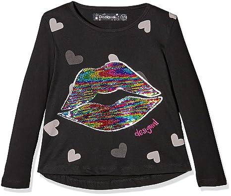 7f54587b515d6 Desigual TS tallahesse T-Shirt À Manches Longues Fille  Amazon.fr ...