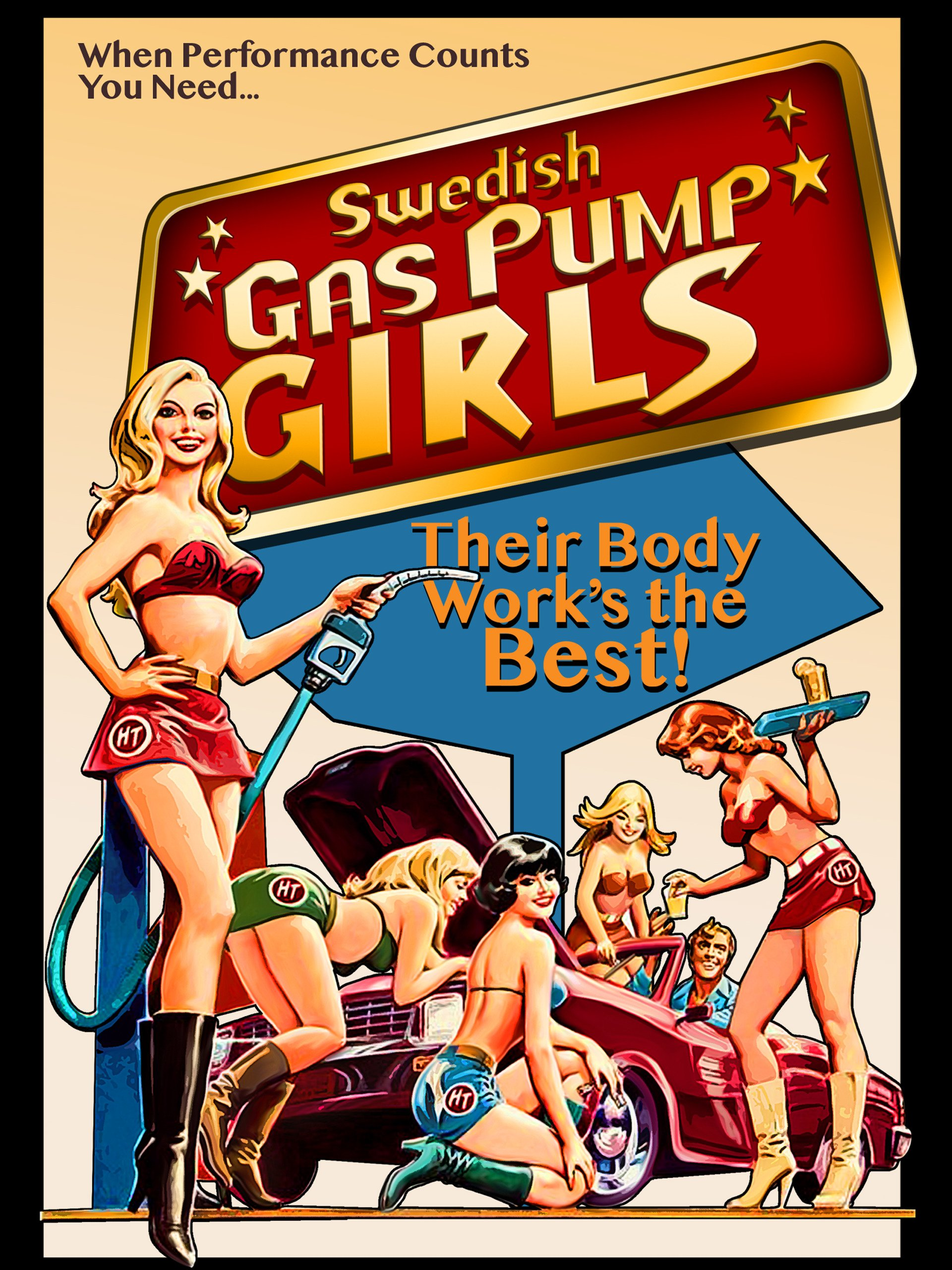Swedish Gas Pump Girls