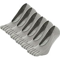 LOFIR Calcetines Cortos de 5 Dedos para Hombres Calcetines Invisibles con Dedos Separados, Calcetines Tobilleros de…